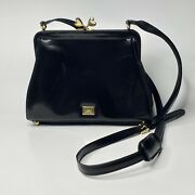 Vintage Moschino Redwall Black Patent Leather Purse - Bag Authentic Heart