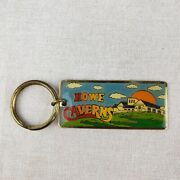 Vintage Colorful Howe Caverns Ny Keychain Collectible Souvenir Usa Key Chain Fob