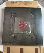 Abstract Art On Steel By Artist David Grojean Signed Andldquomystic Squareandrdquo 1995 24x24andrdquo