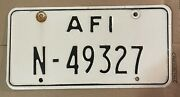 Us Forces License Plate U.s. Armed Forces In Italy Afi N-49327