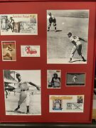 Satchel Paige Signed Business Card Photo Baseball Cards