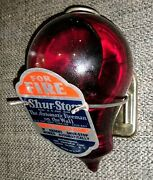 Shur-stop Red Liquid Clear Glass Bulb Fire Extinguisher Hanging Bracket And Label