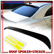 Paint Fit For Mercedes Benz Cla200 W117 Rear Roof Spoiler Cla250 + Side Stickers