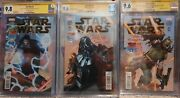 Star Wars Comic Lot 2015 1-3 Signed By Bulloch Prowse Mcdiramid Cgc Ss 9.6-9