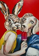 Gillie And Marc Heaven On Earth Mixed Media On Canvas Painting 122cm X 82cm