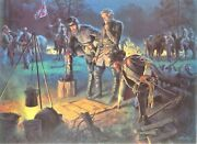 Limited Edition Civil War Lithograph By Mort Kunstler-the Last Council