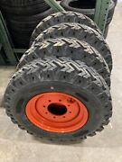 4 New 12 Ply Skid Steer Bias Mud Snow 7.50 16 Tires Replace 12 16.5 Bolt 8on8
