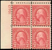 Us Scott 583 Left Side Pb/4 16413 Mint-almost Fine-hinged Scv 70.00 Sk
