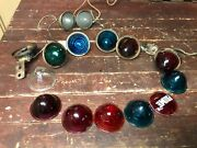 1920's 30's Tail Light Assortment 15 Glass Ruby Red Blue Green Clear Chevy Ford