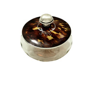 Antique Sterling Silver And Shell Powder / Vanity Jar 1926