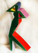 Vintage Fred L. Stoddard Ceramic Sculpture A19 1988 Southern California.
