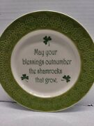 Celtic Classics Decor Plate May Your Blessings Outnumber The Shamrocks That Grow