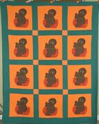 Rare Vintage African American Baby Antique Quilt, Vibrant Colors