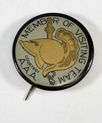 Vintage 1920s West Point Army Black Knights Visiting Team Football Pin Button