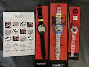 New Swatch Disney Mickey Mouse X Keith Haring Watch 2021 Complete Set Us Seller