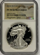 2014-w Silver Eagle Ngc Pf70 Ultra Cameo- Magnum Opus