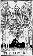 The Lovers By Shayne Of The Dead Tarot Cards Unframed Canvas Or Art Print Poster