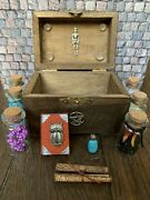 Witch's Chest Minature Dolls House Size W 6 Filled Potions Bottles Book Scrolls