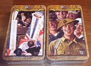 2 Norman Rockwell 500 Piece Jigsaw Puzzles Tins Time For Greatness + Downhearted