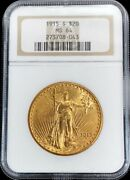 1915 S Gold Us 20 Dollar Saint Gaudens Double Eagle Coin Ngc Mint State 64