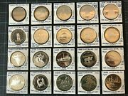 Canada Silver Dollar Lot Of 25 1972 To 1996 Proof/dble Struck From Rcm Sets