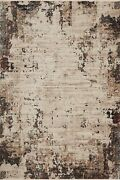 9and039 6 X 13and039 Loloi Rug Leigh Ivory Charcoal 100 Polyester Pile Hand Tufted