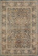9and039 6 X 13and039 1 Loloi Rug Lourdes Charcoal Ivory Polyester Viscose Pile Hand Knot