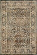 11and039 6 X 15and039 7 Loloi Rug Lourdes Charcoal Ivory Polyester Viscose Pile Hand Kno