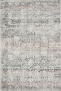 5' 0 X 7' 6 Loloi Rug Rumi Pewter 56 Viscose 44 Wool Pile Hand Woven