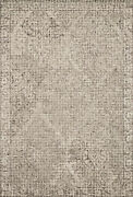 9and039 3 X 13and039 Loloi Rug Tatum Pewter Stone 100 Wool Power Loomed