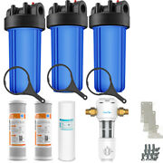Whole House Water Filter System 2.5 X 10 Three Stage Filtration 3/8 Inlet