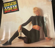 Rare Vintage 1992 Coors Extra Gold Beer Bar Poster Hot Model New