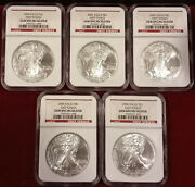 5 Coin Lot 2006 1 Oz American Silver Eagle 1 Ngc Gem Uncirculated First Strike