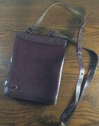 Pzratir Warszawa Vtg Leather Document Pouch Purse Bag Brown War Spy Steampunk