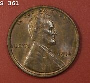 1914 Lincoln Wheat Cent Ch Bu Rb Free S/h After 1st Item