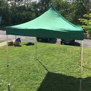 Commercial 10x10' Pop Up Canopy Tent Green 5 Adjustable Height Outdoor Gazebo