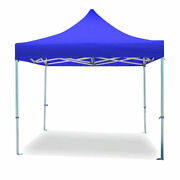 Commercial 10x10' Pop Up Canopy Tent Blue 5 Adjustable Height Outdoor Gazebo