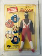 Original 1970and039s Mego Marvel 8 Action Figure Falcon Mint On Card Moc Avengers