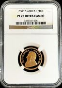 2000 Gold South Africa 1/4 Oz Krugerrand Coin Ngc Proof 70 Ultra Cameo