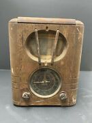 1936 Arvin Rhythm Baby Police And Amateur Band Tube Radio For Parts Or Repair