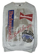 Budweiser This Buds For You Vintage 1991 Menand039s Size Xl Gray All Over Sweatshirt