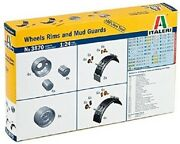 Italeri 1/24 Wheels Rims And Mud Guards For Tractor Trailers And Tankers Ita3870