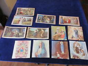 Vintage Jesus Mary Religious Color Art Prints Two Sided Calendar 12pc Lot Q980