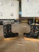 """Pair Vintage 1940s/50s Barry-wells Company Cowboy Boot Lamps 23"""""""