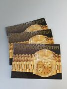 Your Rolex Oyster Booklets - English 92 93 95 97 99 2000 Spanish 92 99