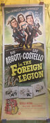 Abbott And Costello In The Foreign Legion, The 1950. 14 X 36 Linenbacked. Insert