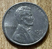 1943 S Silver Steel Lincoln Wheat Penny, 1 Cent