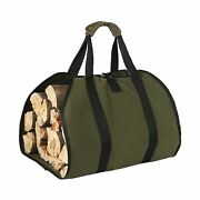 Hrx Package Waxed Canvas Firewood Bag Carrier, Water Resistant Log Tote Wood ...
