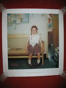 Shiner Girl With Black Eye Norman Rockwell Signed Model Print Poster America
