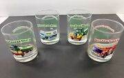 1996 Rare Hess Gas Station Toy Truck Collectible Drinking Glass Set Tumbler